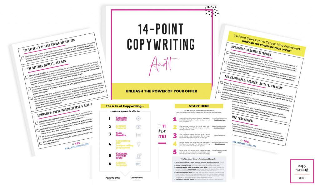 The Funnel Sisters Sales Funnel Copywriting Audit Mockup Image